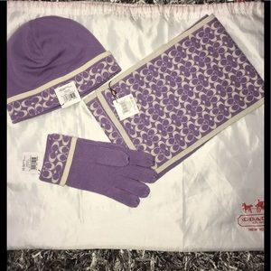 Coach Scarf, Gloves, and Hat Set